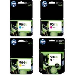 Combo Cartucho HP 904XL Negro + HP 904XL Cian+ HP 904XL Amarillo+ HP 904XL Magenta