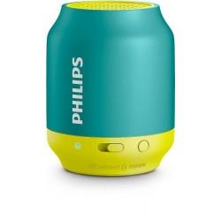 Parlante Portátil Philips Bt25a/00 Bluetooth-Azul Con Amarillo