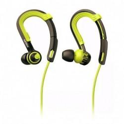 Auriculares Deportivos Philips Shq3400-Gris Con Verde