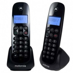 Kit 2 Teléfonos Inalámbricos Motorola M700-2-Negro