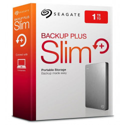 DISCO RIGIDO EXT 1TERA SEAGATE BACKUP PLUS SLIM PLATEADO USB 3.0