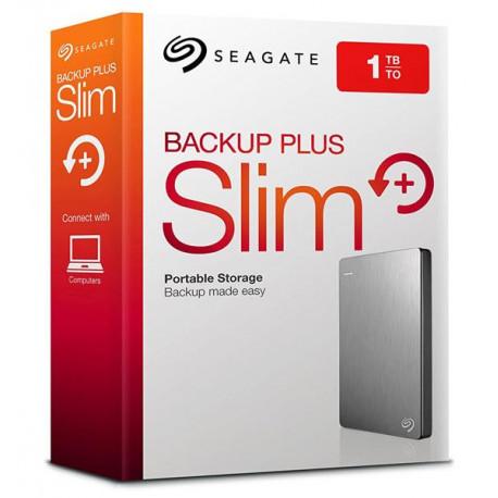 DISCO RIGIDO EXT 1TERA SEAGATE BACKUP PLUS SLIM PLATEADO USB 3.0