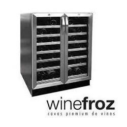 Cava De Vinos Winefroz Mn54d - 54 Botellas Doble Temperatura