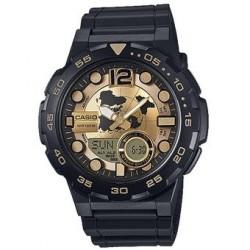 Reloj Casio AEQ100BW-9A Para Hombre - Negro