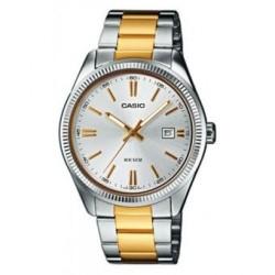 Reloj Casio MTP1302SG-7A-Plateado - Dorado para Hombre