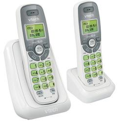 TELEFONO INALAMBRICO VTECH CS6114-2 DOBLE BASE DECT 6.0 TECLAS CON LUZ
