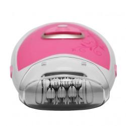 Depiladora compacta con protector de cabezal ROSA